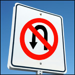 u turn sign